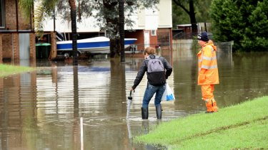 Residents in parts of south west Sydney have been urged to evacuate immediately as flood waters continue to rise