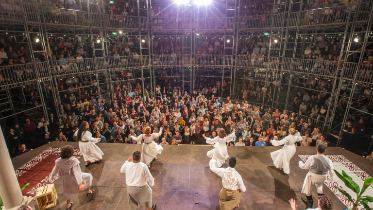 <i>Much Ado About Nothing</I> has a Polynesian flavour at the Pop-Up Globe.