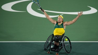 Dylan Alcott's achievements this season included winning gold in the quad singles wheelchair tennis in Rio de Janeiro.