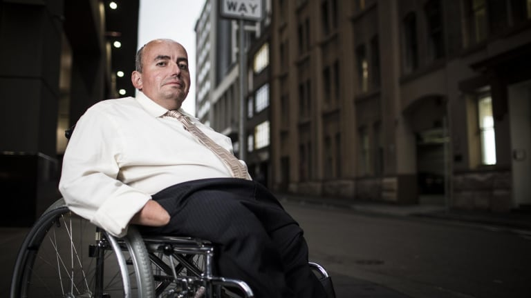 Craig Wallace left a 15-year career with the public service after being moved to a building with no disabled toilet. He is President of People with Disability Australia.