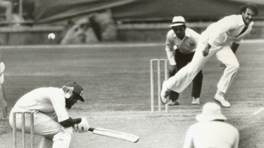 Dennis Lillee was a fearsome sight for opposing batsmen.