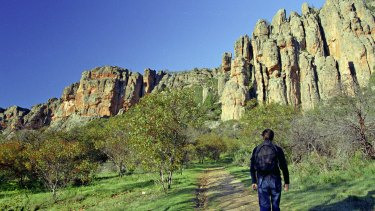 Mt. Arapiles is a popular destination for rock climbers, located near Natimuk in Victoria's west.