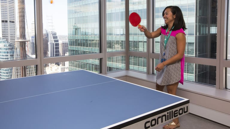 A ping pong table at the Twitter headquarters in Sydney.