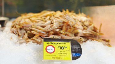Coles has seen an increase in demand for responsibly sourced seafood, with the most popular varieties being banana prawns, tiger prawns and salmon.