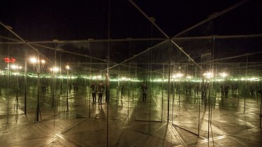 The disorienting House of Mirrors at Dark Mofo 2016.