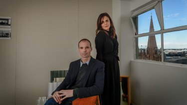 Tim Wilson and Christie Petsinis, directors of Folk Architects, in their Nicholas Building studio.