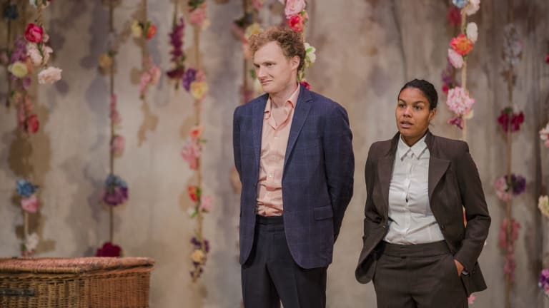 Bell Shakespeare's As You LIke It. Charlie Garber (left), and Zahra Newman.