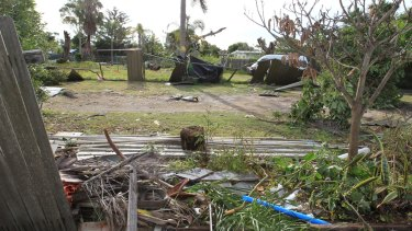 The wind ripped a path from his neighbour's property.