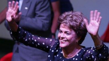 Suspended Brazilian President Dilma Rousseff.