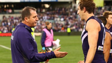 Ross Lyon experienced grand final defeat after a minor premiership at St Kilda in 2009.