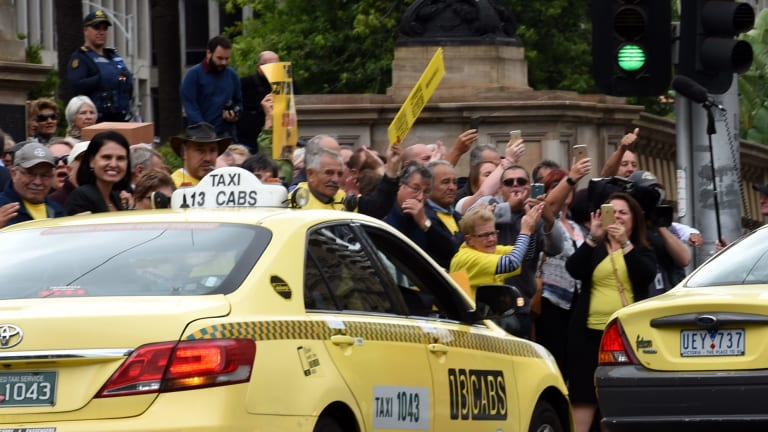 The entry of Uber has led to widespread protests by taxi drivers.