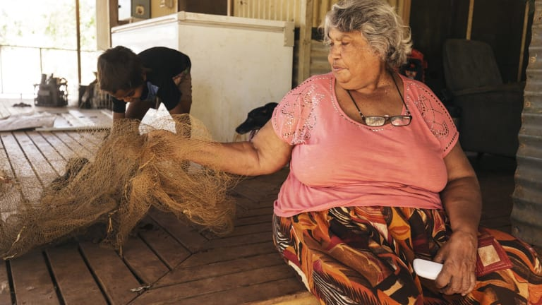 Pasty Goonak, an Aboriginal elder in the remote town of Kandiwal in the Kimberley.