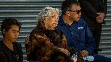 A funeral, not a celebration: Emotional elders at the departure ceremony in Canberra.