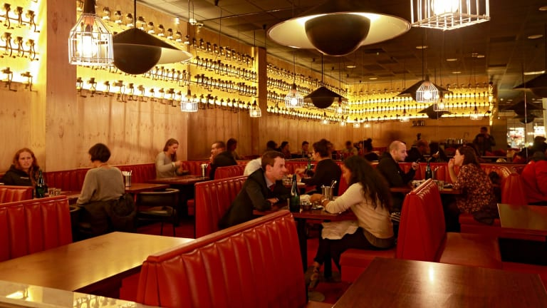 The interior of Brother Burger and the Marvelous Brew burger-bar in South Yarra.