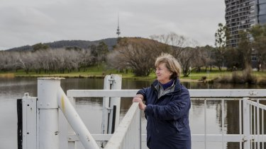 Convenor of Lake Burley Griffin Guardians, Juliet Ramsay. The group is concerned about the redevelopment of the foreshore at Acton.