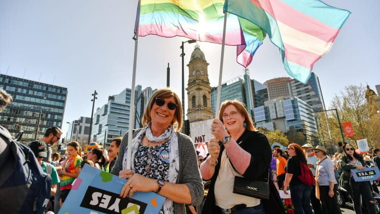 """If the """"yes"""" vote wins, Western Australian Senator Dean Smith will introduce a bill to allow celebrants to refuse marrying gay couples and allow religious organisations to withhold their buildings from ceremonies."""