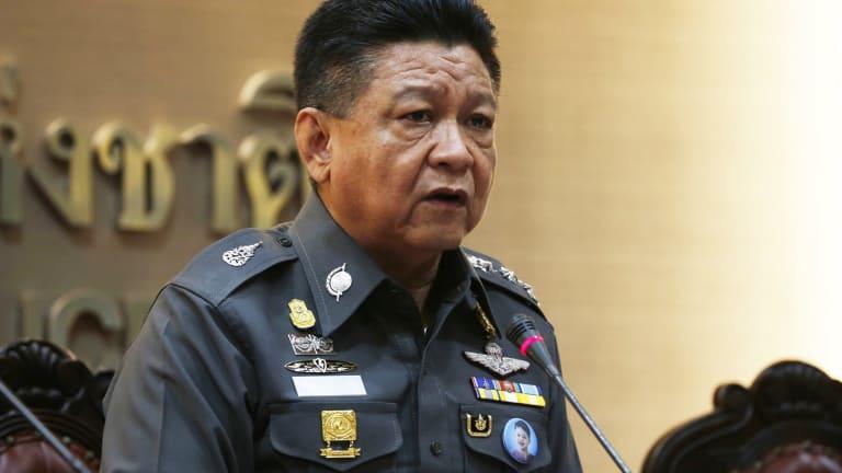Thai police spokesman Prawut Thawornsiri. Thai authorities are questioning two Indian men in connection with the Bangkok bombing.