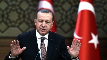 Turkish President Recep Erdogan in Ankara last month.