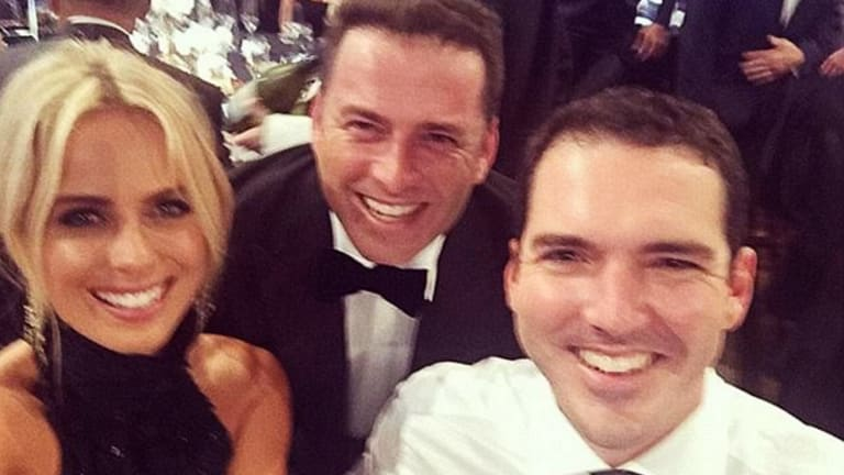 Karl Stefanonic with Peter Stefanovic and Sylvia Jeffreys.