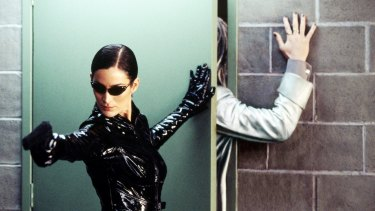 Carrie-Anne Moss in The Matrix Reloaded. While the film's American sets were largely recycled, the same did not happen in Australia.