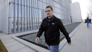 Roy Jeffs, son of jailed polygamous leader Warren Jeffs, leaves the federal court in Salt Lake City last week.