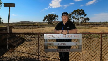 """She's a lifeline,"" says a patient of Glynis Thorp, a mental health nurse, who flew into the tiny South Australian town of Yunta, population 40, with the Royal Flying Doctor Service from Broken Hill. Thorp provides mental health counselling services to the remote areas of Australia."