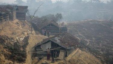 Mist hangs in the air above Kutapalong Rohingya refugee camp in Cox's Bazar, Bangladesh.