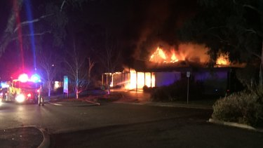 Local Ben Langley saw fire crews tackling the Kambah church blaze at 6:15am while he was out walking his dog.