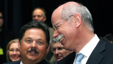 Ernst Lieb, left, pictured with Daimler Chief Executive Dieter Zetsche back in 2009.