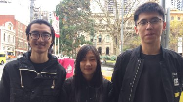 King Huang, Qian Ying and Liam Xue left China to live and study in Melbourne.
