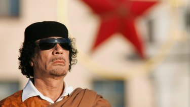 Muammar Gaddafi, seen here in Minsk in 2008, ruled Libya for more than 40 years before he was deposed and brutally murdered.