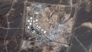The Mujahideen-e-Khalq say they were instrumental in uncovering a covert Iranian nuclear program at the Natanz site, pictured.
