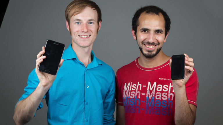 QPay's Andrew Clapham (left) and Zakaria Bouguettaya
