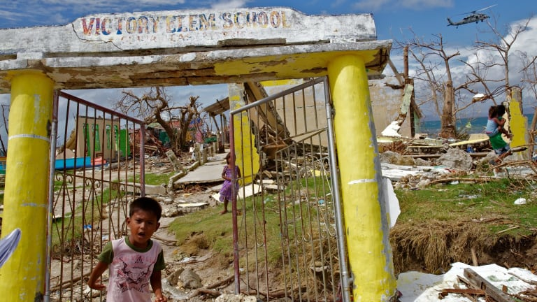 Victory Island took the brunt of Super Typhoon Haiyan.