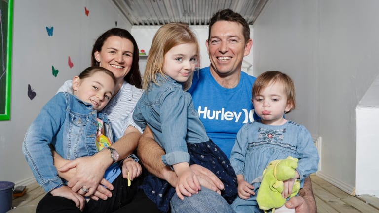 Jackie and Darren with their daughters Grace Charlie and Sophia, who has congenital heart disease.