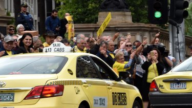 Taxi drivers and licence holders on Monday protested state government reform plans for the industry.