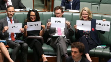 Labor MPs Andrew Leigh, Linda Burney, Stephen Jones and Clare O'Neil during question time on Tuesday.