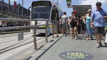 Access for all: Melbourne's free tram zone.