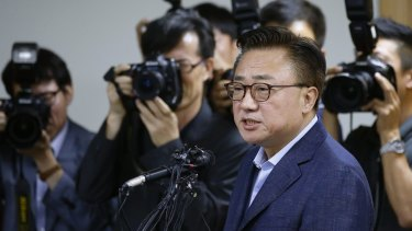 'Heartbreaking' figure: Koh Dong-jin, president of Samsung Electronics' mobile business.