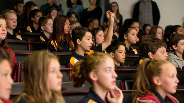 New year 7 students at Coburg High School.