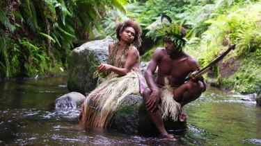 Marie Wawa and Mungau Dain as the couple whose love raises the ire of their community in <i>Tanna</i>.