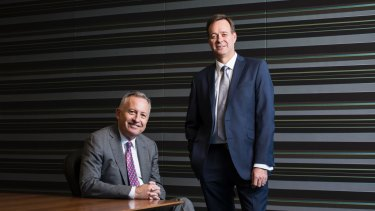 Aristocrat CEO Trevor Croker (right) has taken over from Jamie Odell.
