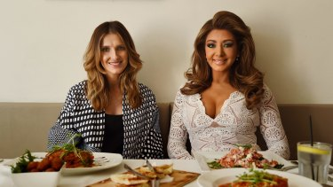 Well supported: Kate Waterhouse with entertainer Gina Liano (right), who has been encouraged by the public's enthusiasm towards her TV appearances.