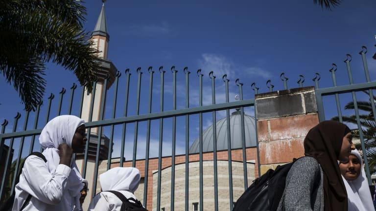 Children leave the Malek Fahd Islamic School in Greenacre