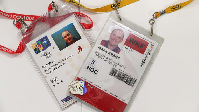 Mr Grant's accreditations for the Goodwill Games and the Sydney Olympics.