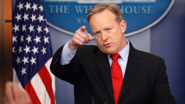 White House press secretary Sean Spicer has ordered staff to submit to random phone checks.