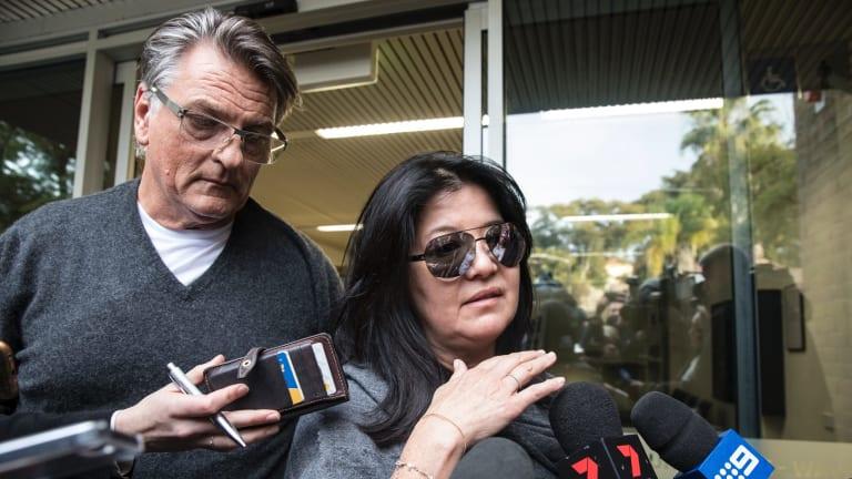 Lisa Ho and her partner Nick Jacenko leave Waverley Court House.