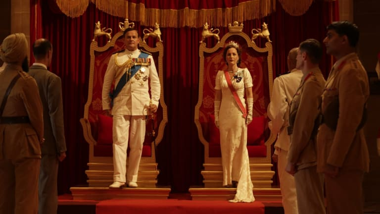Hugh Bonneville and Gillian Anderson as Lord and Lady Mountbatten in Viceroy's House.