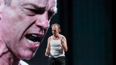 Hugo Weaving rages as the chilling despot Arturo Ui.