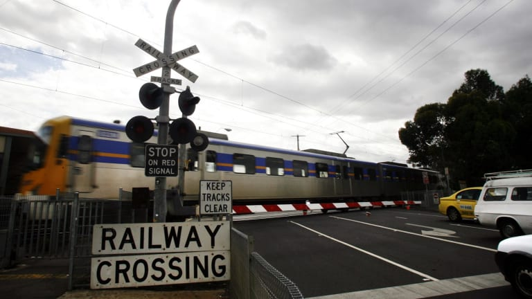 The Andrews government is spending big to spruik its level crossing program.